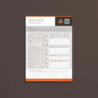 Restaurant Survey A4 Format Template