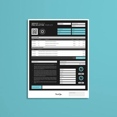 Service Invoice Pro US Letter Template
