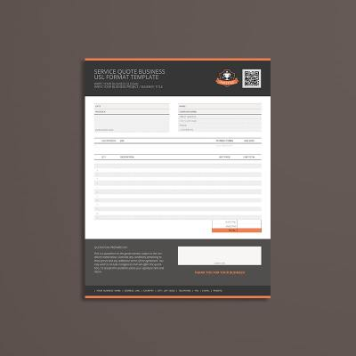 Service Quote Business USL Format Template