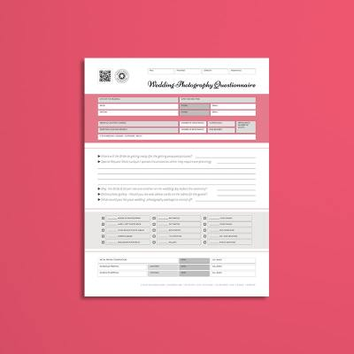 Wedding Photography USL Questionnaire