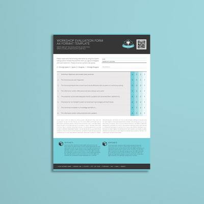 Workshop Evaluation Form A4 Format Template