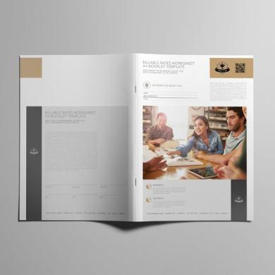 Billable Rates Worksheet A4 Booklet – kfea 2-min