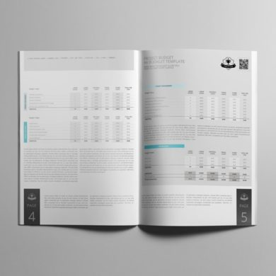 Project Budget A4 Booklet Template – kfea 3-min