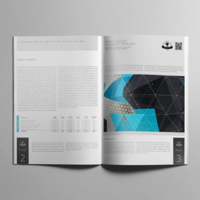 Project Budget A4 Booklet Template – kfea 4-min