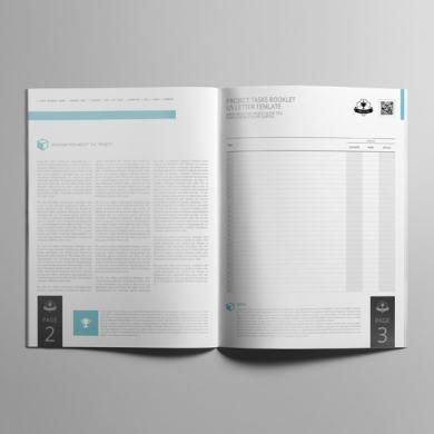 Project Tasks Booklet US Letter Template – kfea 2-min