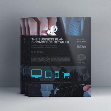 THE Business Plan – E-Commerce Retailer US Letter – kfea 1-min