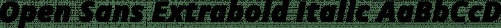 Open Sans Extrabold Italic