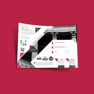 AViTO Recognition Certificate Template