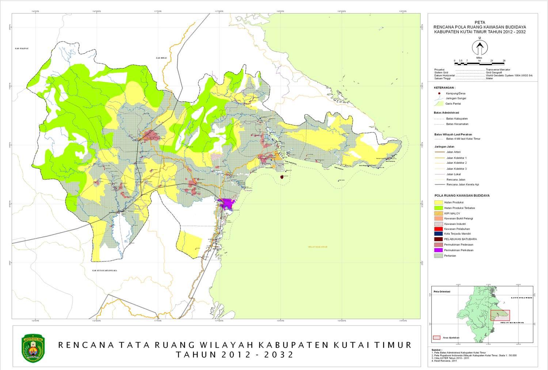 Rencana Tata Ruang Wilayah Kabupaten Kutai Timur tahun