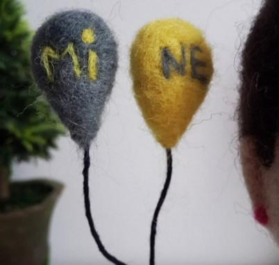 keçe iğneleme balonlar isme özel