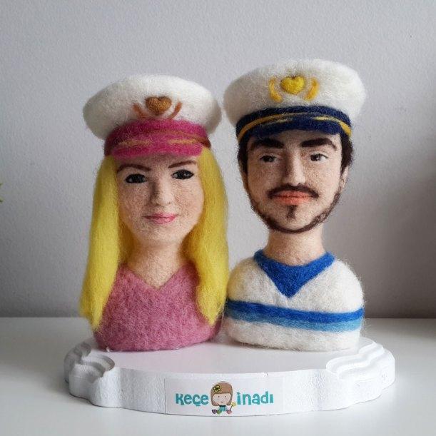 kişiye özel yün vesikalık kaptan çift