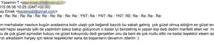 Teşekkürler Yasemin & Gamze :)