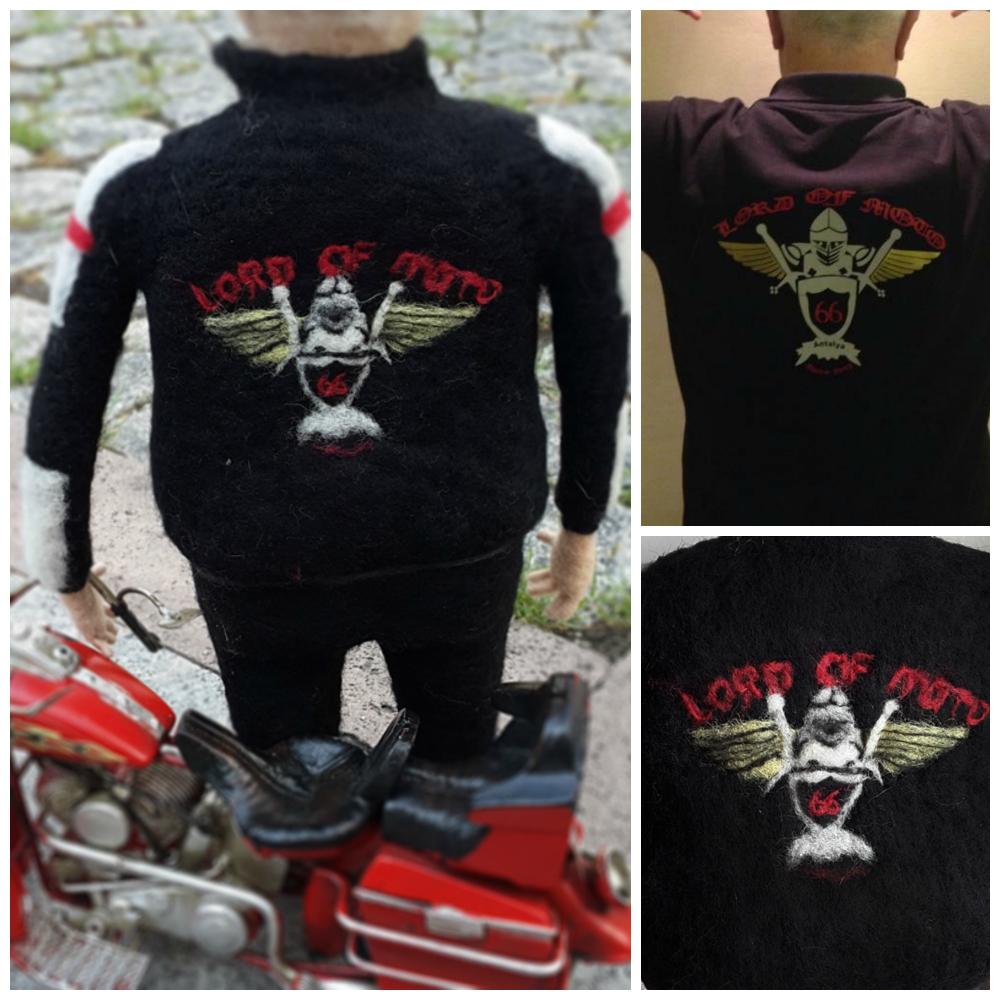 kişiye özel yün bebek - lord of moto