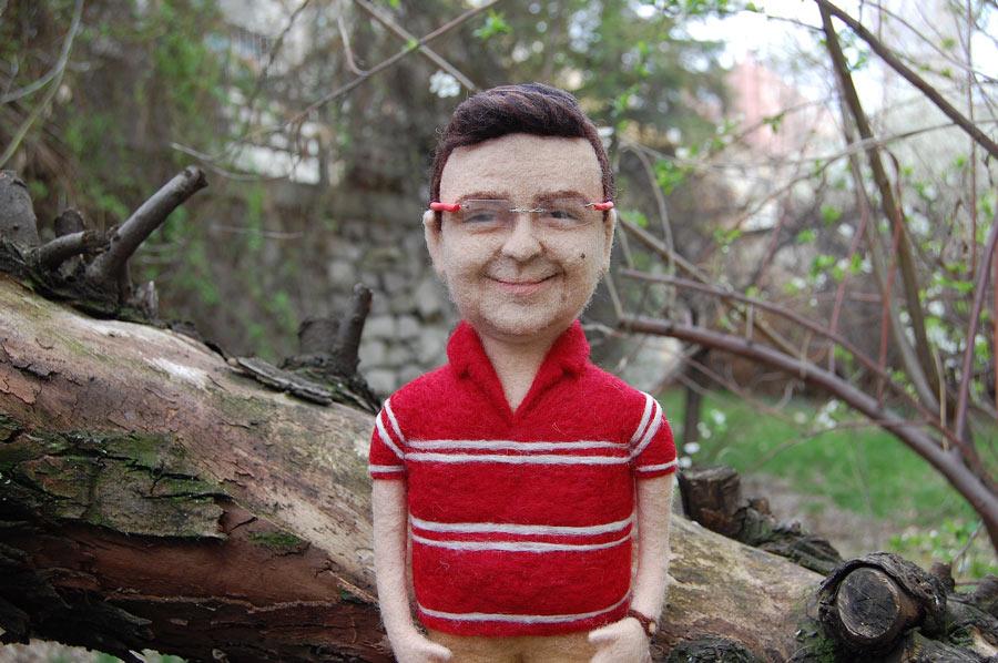 kişiye özel yün bebek - needle felted custom doll