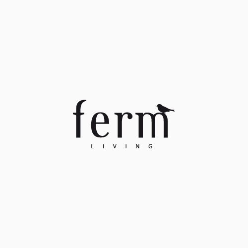 Ferm Living Socket Pendant Low Red Brown