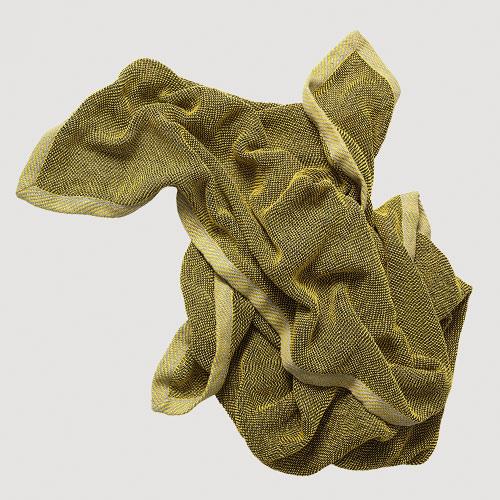 Muuto Ripple Throw Yellow 115x180