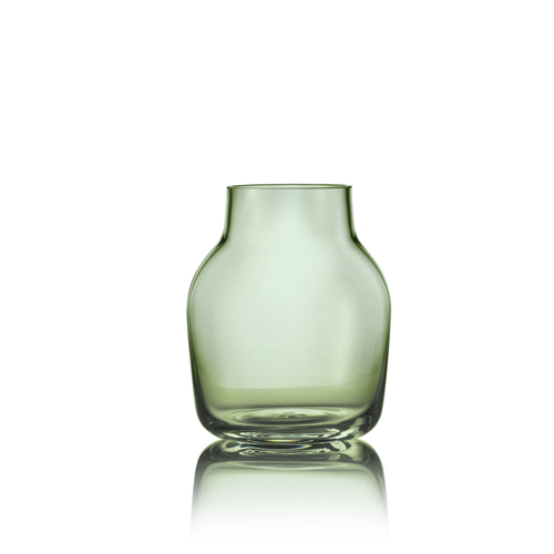 Muuto Silent Vase small Green UITLOPEND