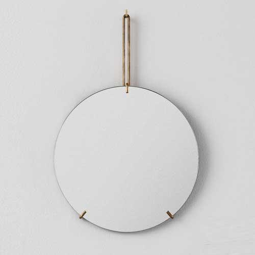 Moebe Wall Mirror Brass 50cm
