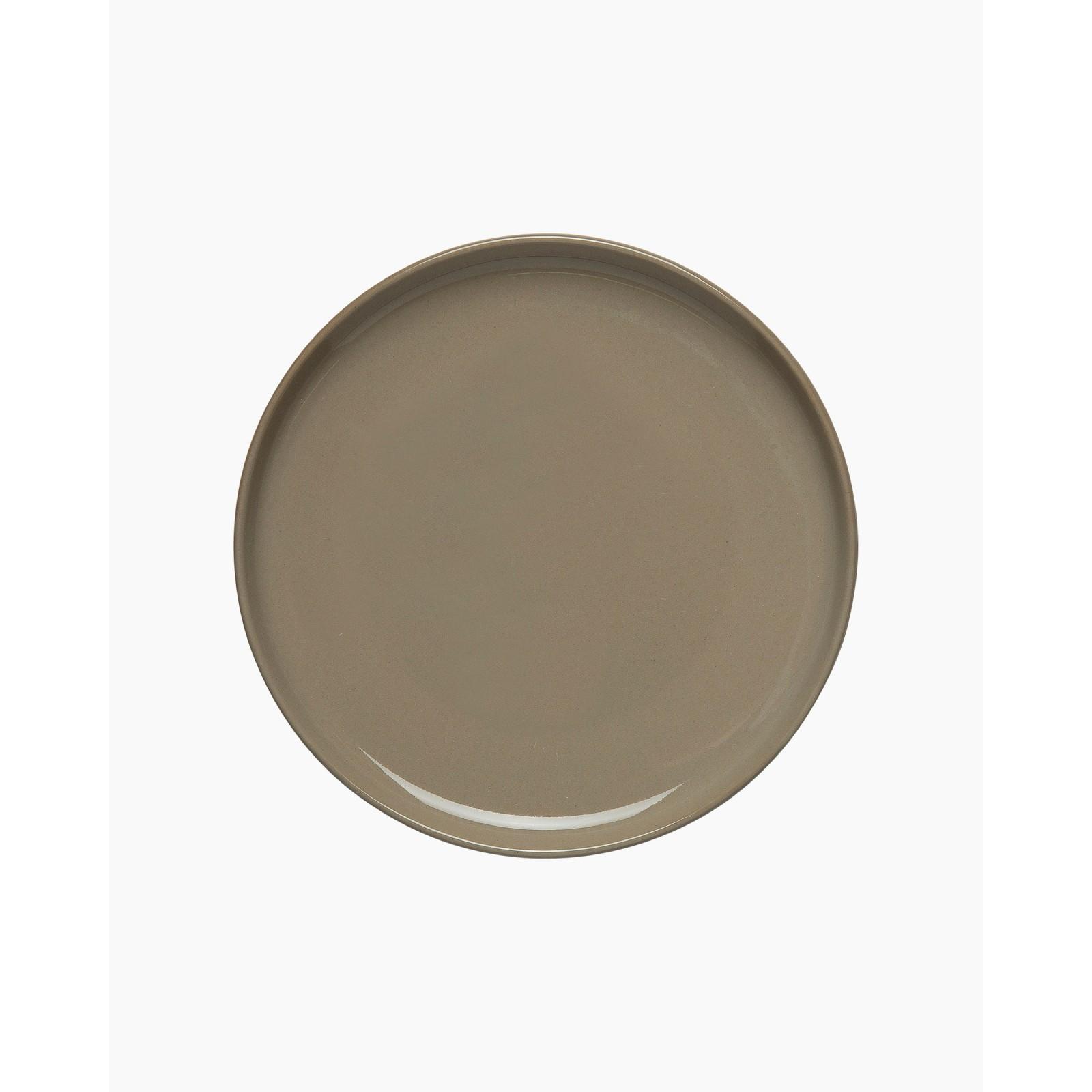 Oiva plate 13,5 cm terra/black