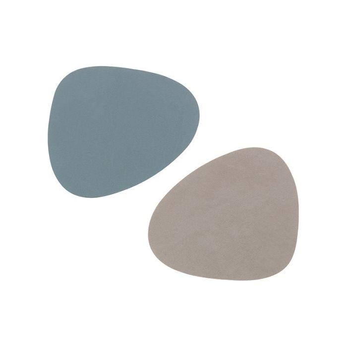 coaster curve nupo double Lightblue/ light Grey