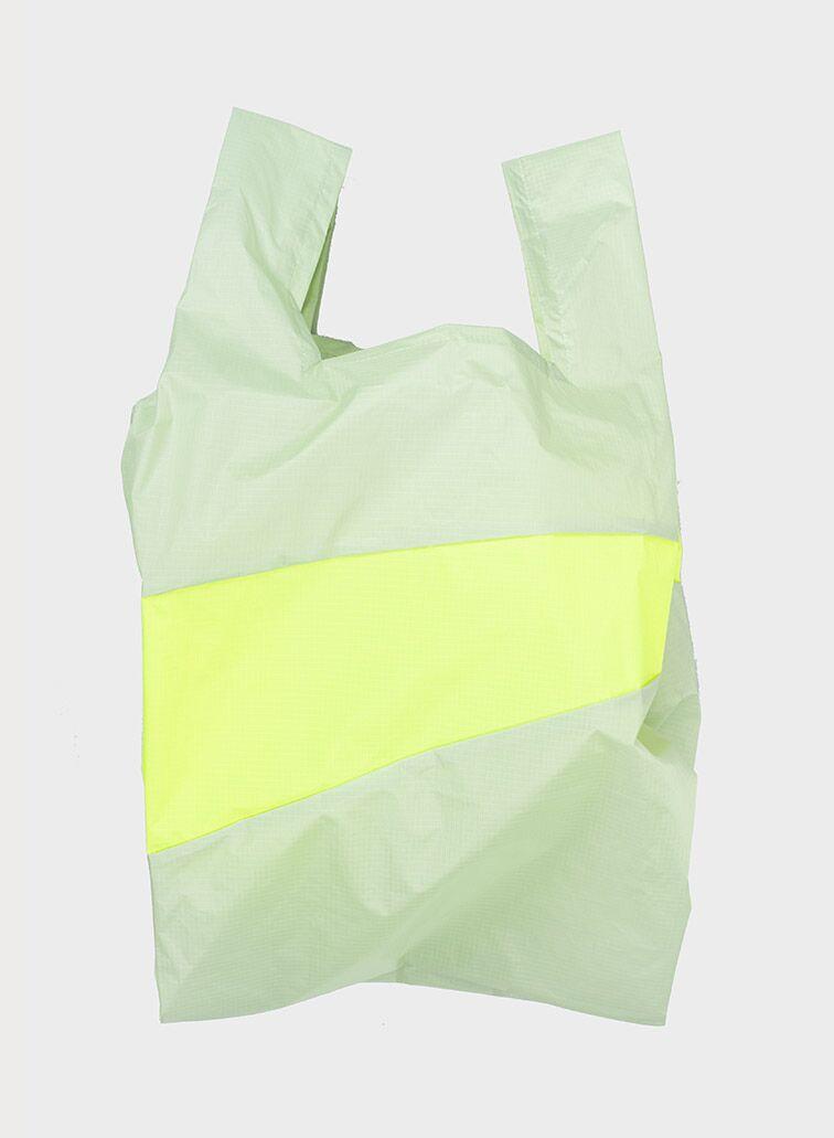 Shopping Bag 2006 pistachio & fluo yellow L
