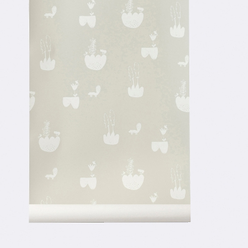 Ferm Living Behang Landscape Grey