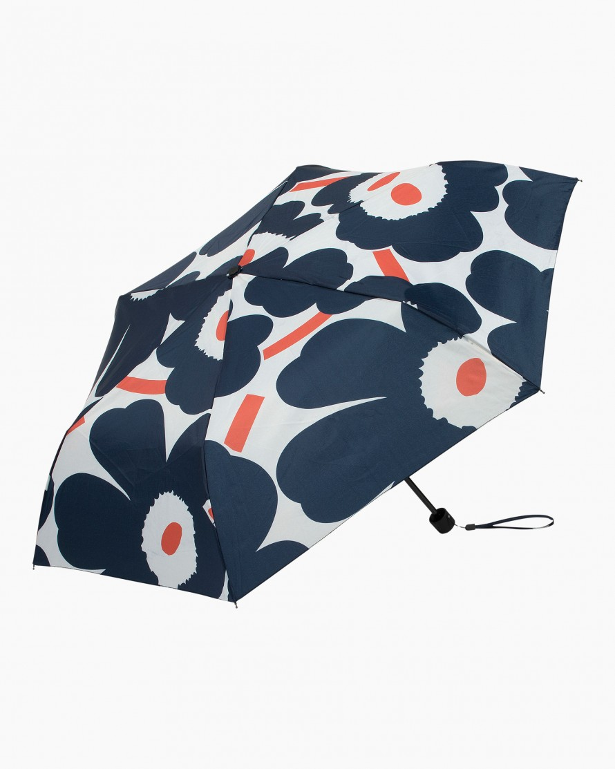 Marimekko Umbrella pieni Unniko white, navy orange