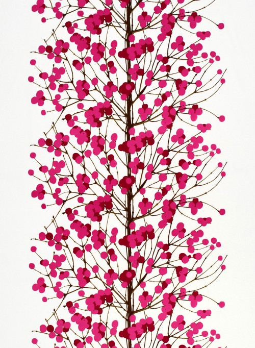 Marimekko stof Lumimarja pink