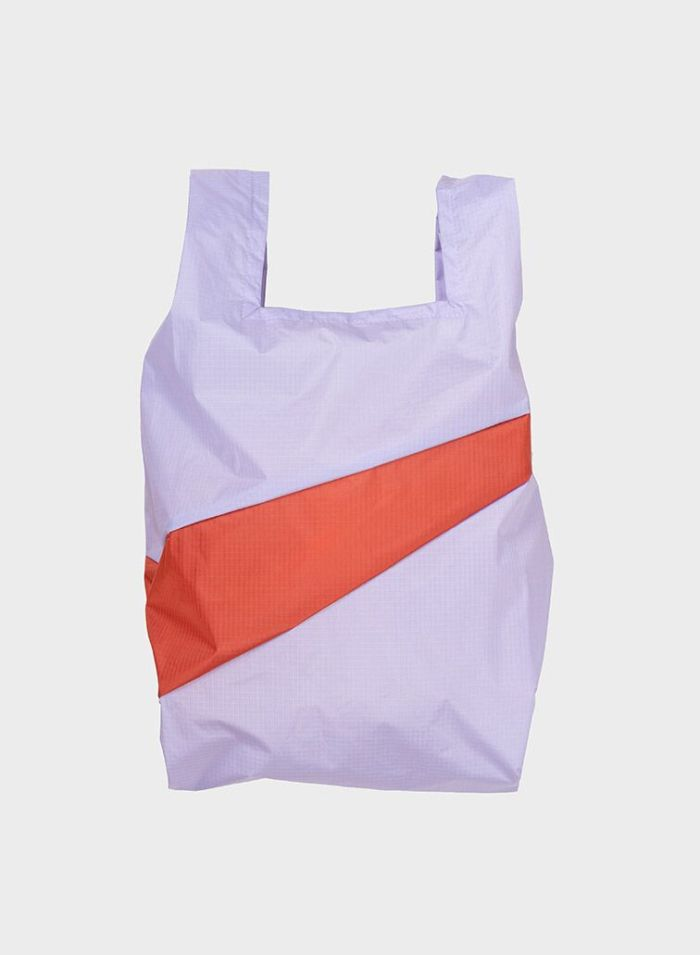 Shoppingbag 2012 lavender & rust M