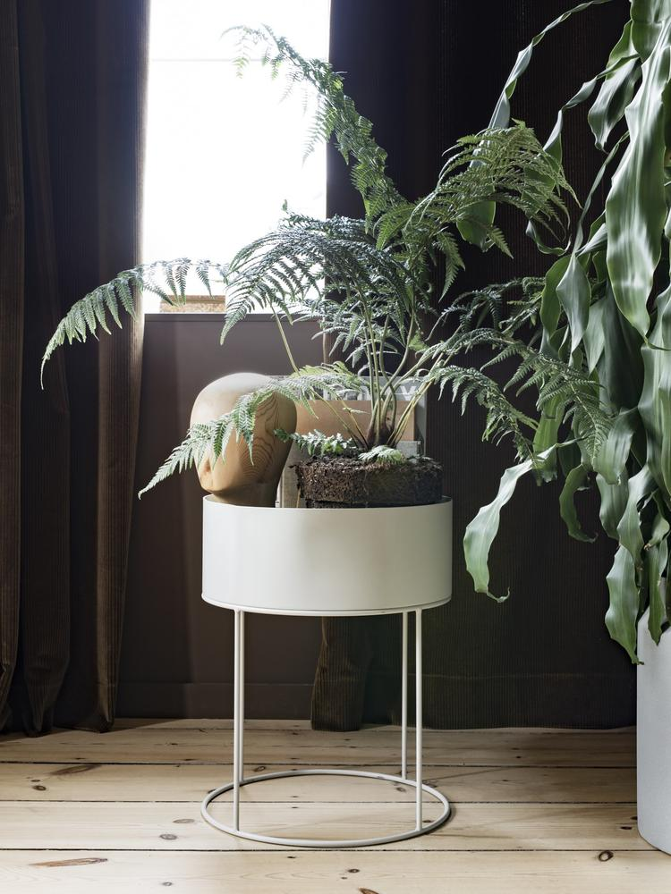 Plantbox Round light grey