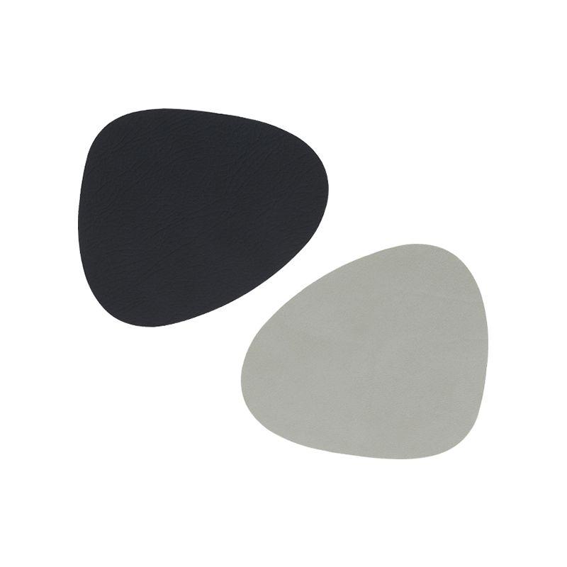 Coaster curve nupo double black/metallic