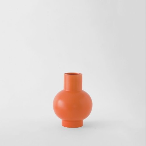 Raawii Small Vase Strøm Vibrant Orange