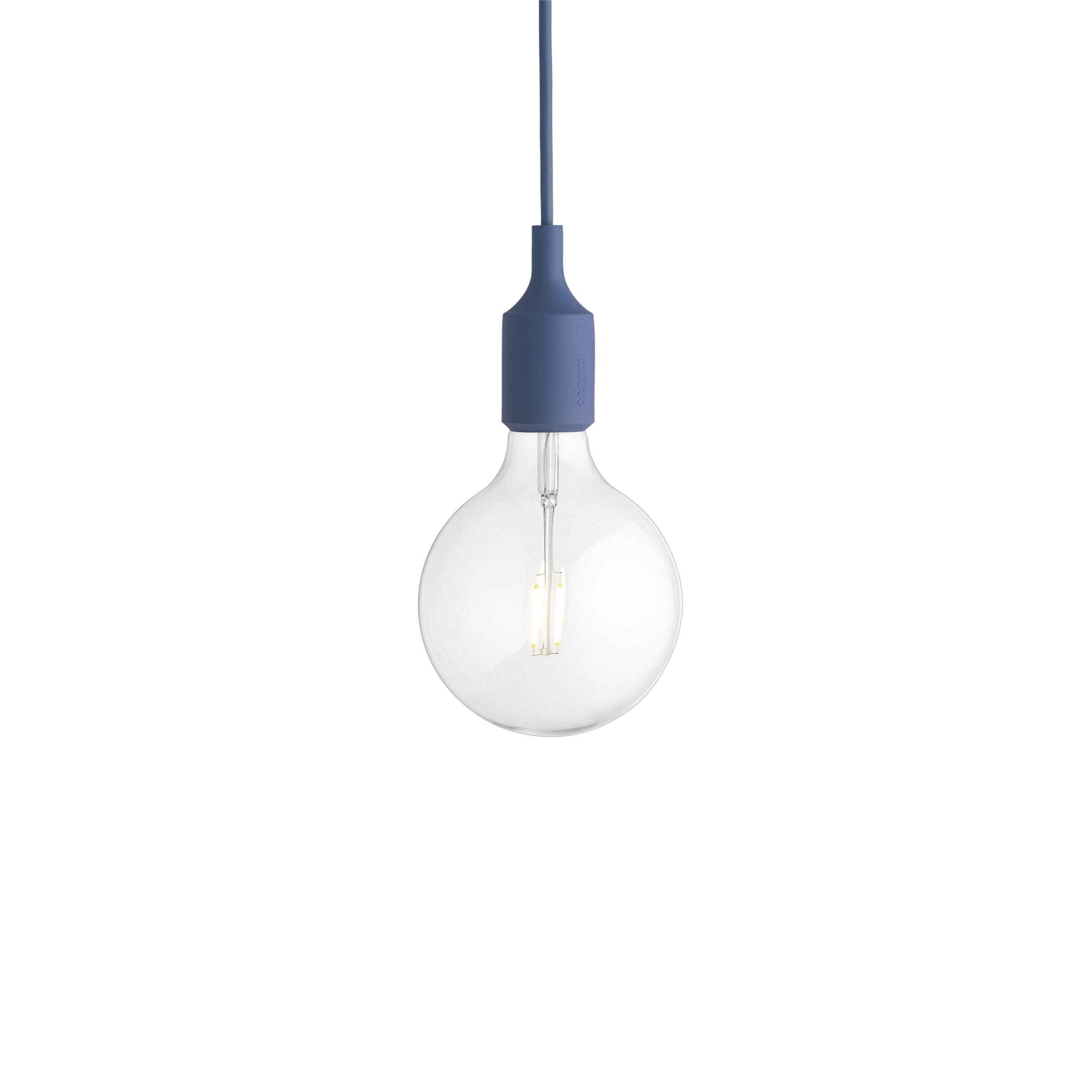 E27 pendant lamp pale blue