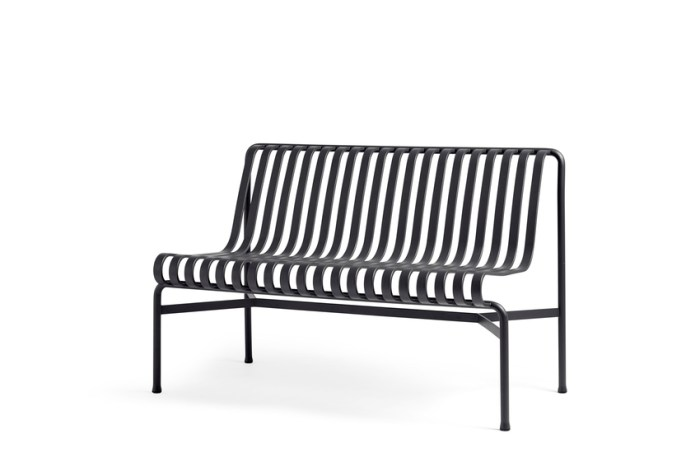 HAY Palissade Dining Bench wo Handle Anthracite