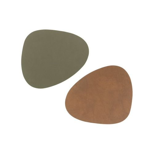 coaster curve nupo double army green/ nature