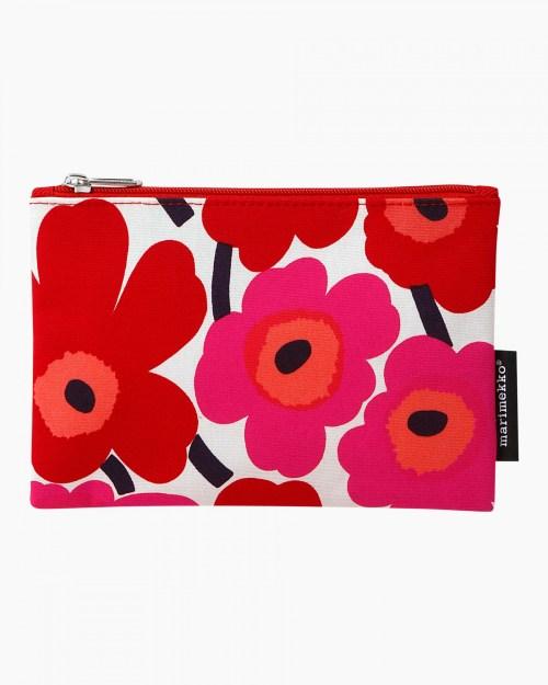 Kaikka mini unikko cosmetic bag red/white