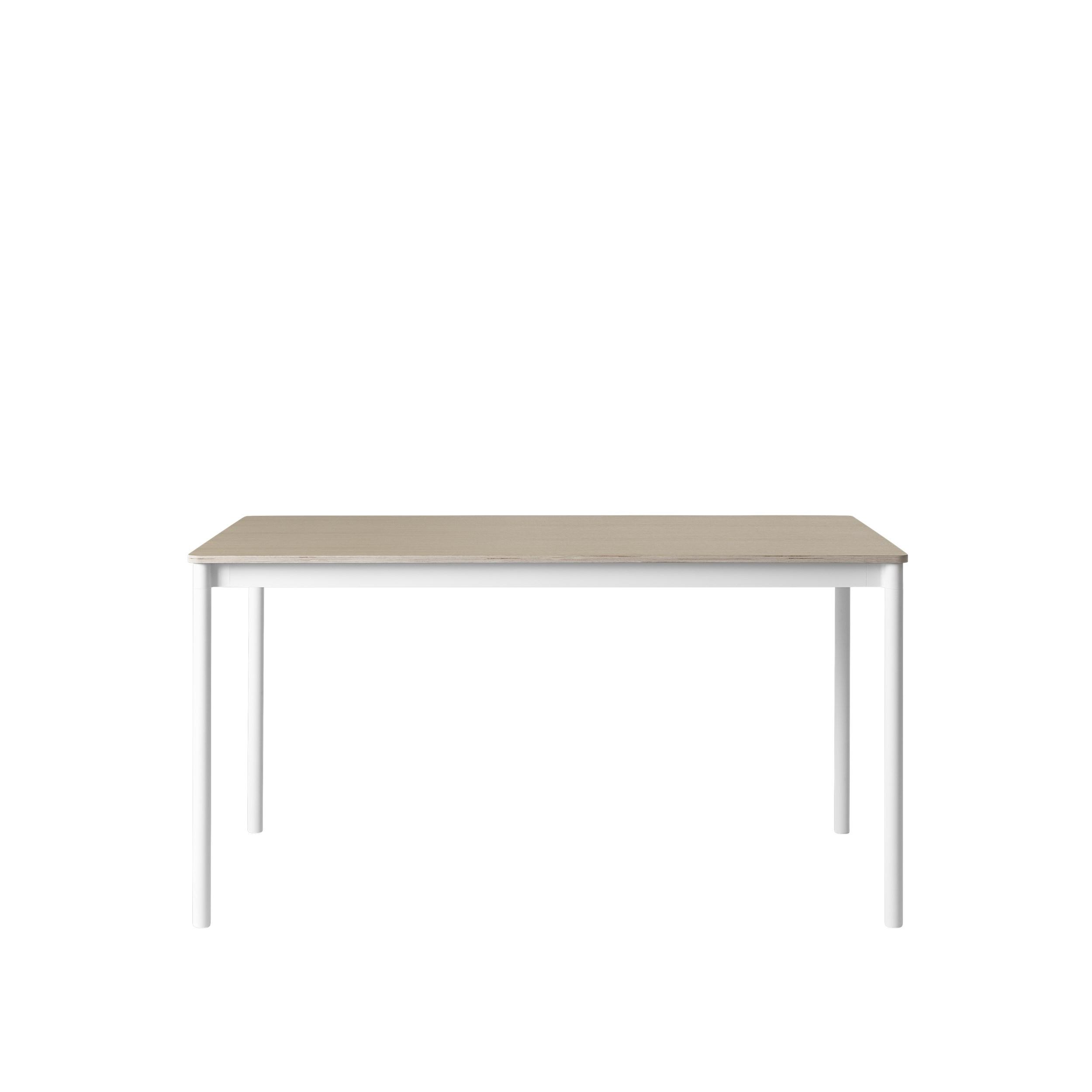 Muuto Base tafel 190x85 Oak Veneer/Plywood/White