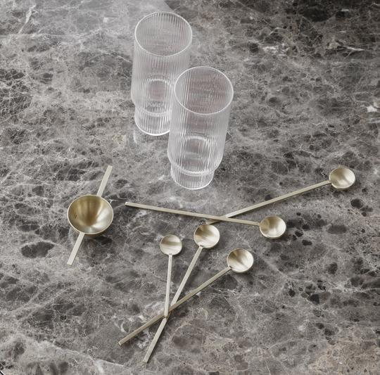 Ripple long drink set of 4 clear