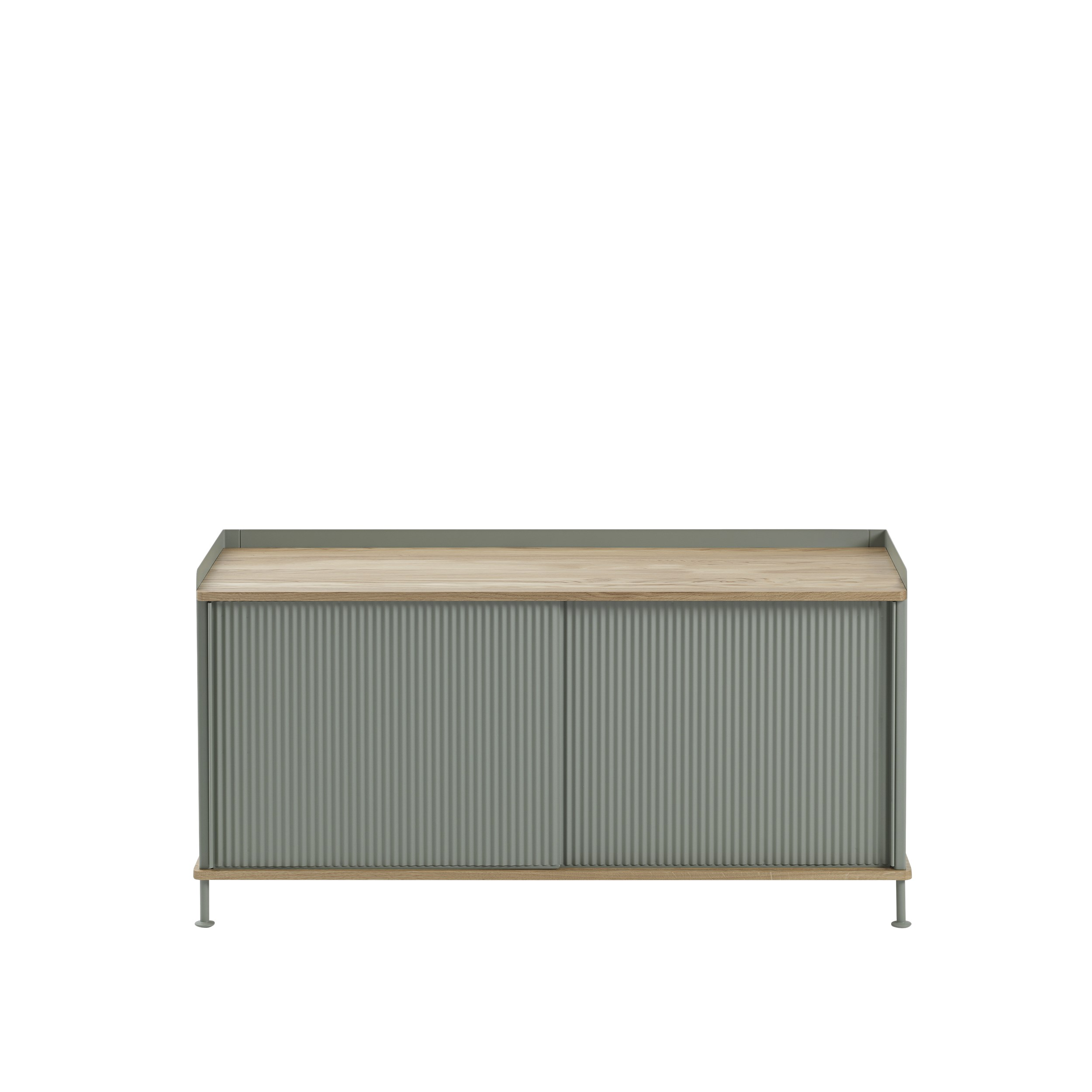 Muuto Enfold Sideboard Low Oak/Dusty Green