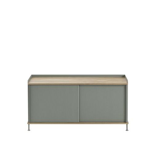 Muuto Enfold Sideboard Low Oak/Dusty Green