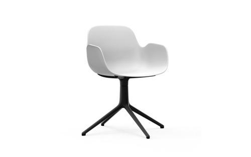 Normann CPH Form Armchair Swivel 4L Black Aluminium