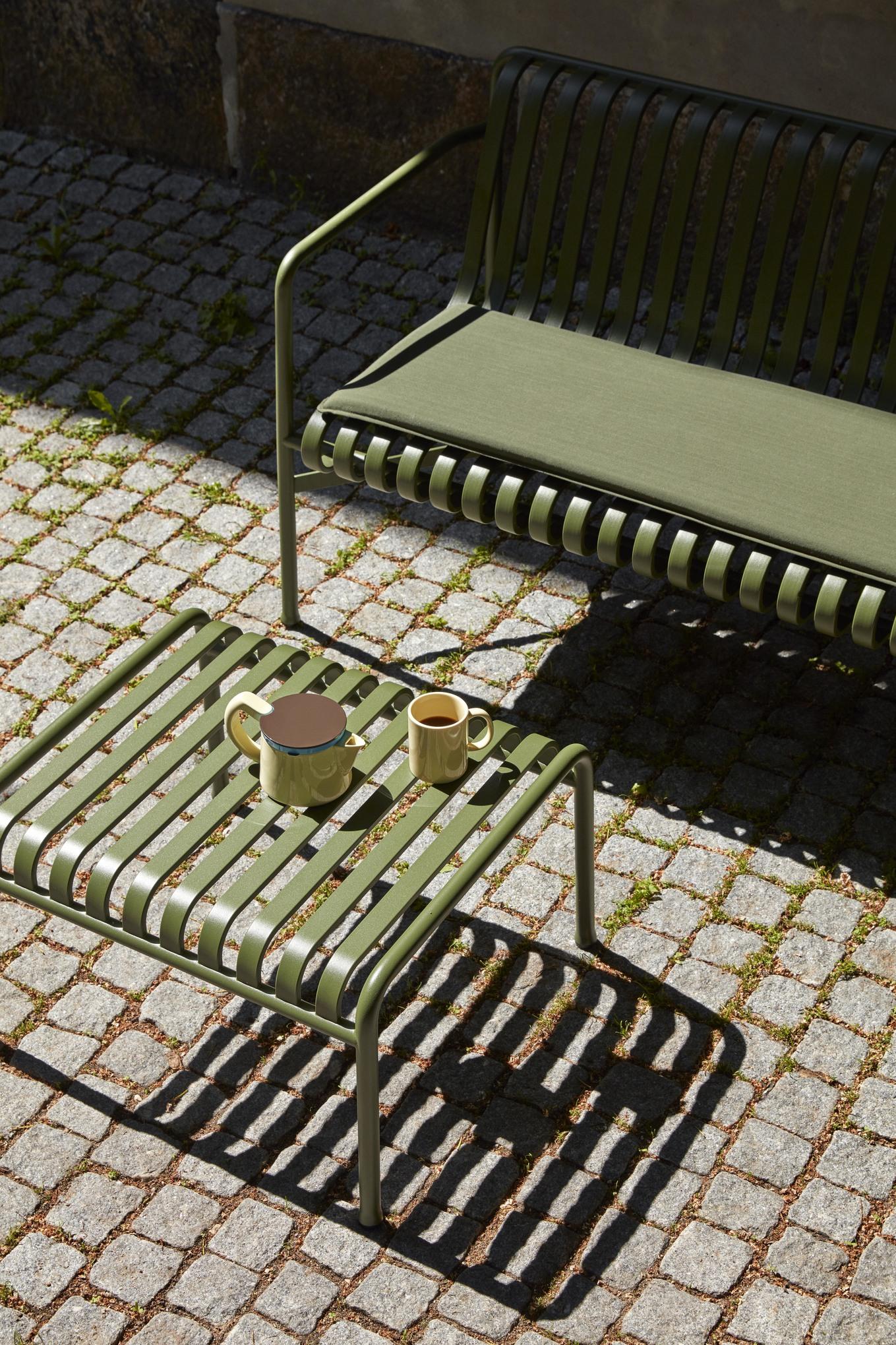 Hay Palissade Dining Bench Cushion Seat Sky Grey