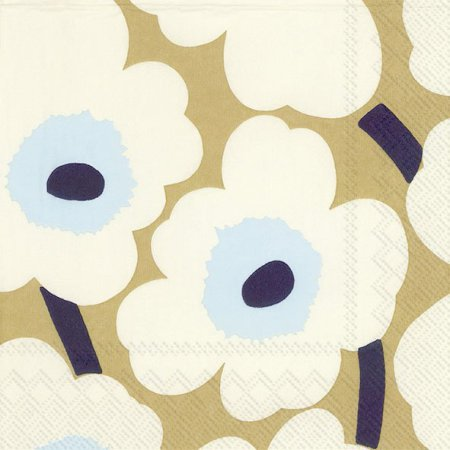 Unikko cream/gold lunch napkin