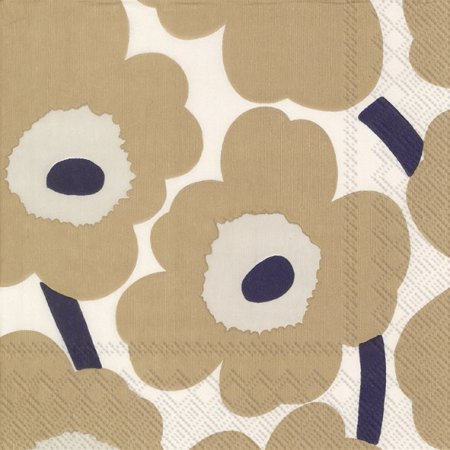 Unikko cream/linen lunch napkin