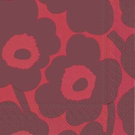 Unikko red/red lunch napkin