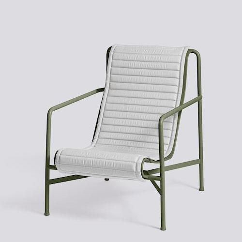 Hay Palissade Lounge Chair High Cushion Sky Grey