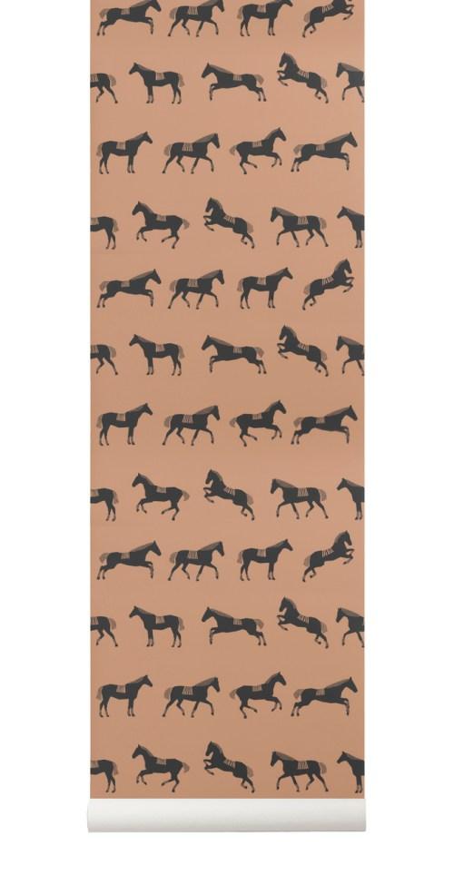 Ferm Living Behang Horse