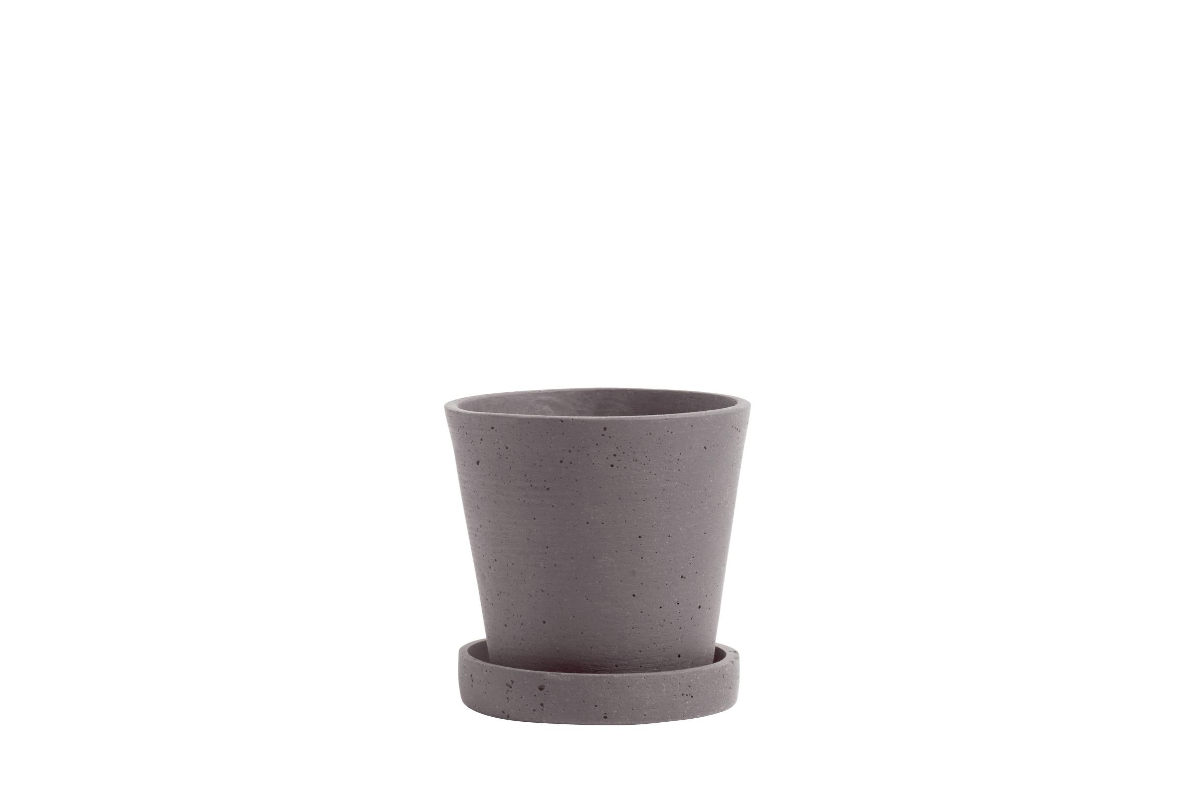 Flowerpot with saucer S plum
