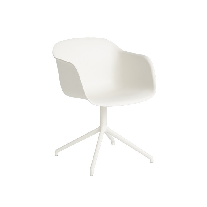 Muuto Fiber Armchair Swivel Base (wo return) Natural White/White