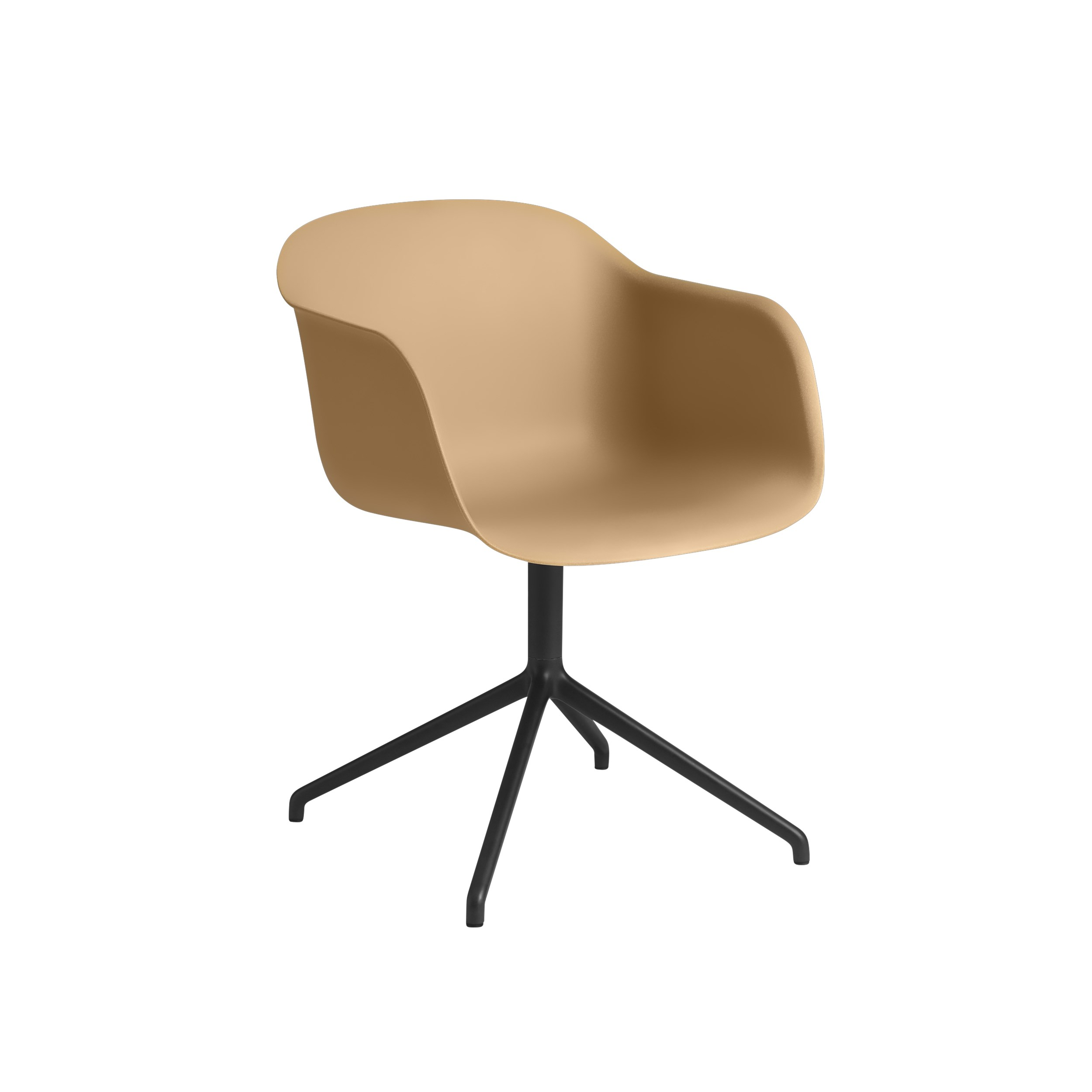Muuto Fiber Armchair Swivel Base (wo return) Ochre/Black